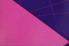 Roze en blauw document Royalty-vrije Stock Afbeeldingen