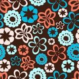 Roze en blauwe bloemen Stock Afbeeldingen