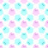 Roze en blauwe gestreepte uilen Royalty-vrije Stock Fotografie