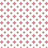Roze en bruin vormenpatroon Stock Foto's