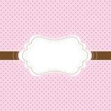 Roze en bruine uitstekende kaart Stock Foto's