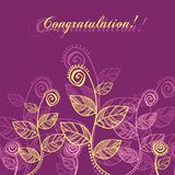 Roze en gele bladeren royalty-vrije stock afbeelding