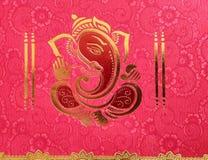 roze en gouden de kleurenpic van godsganesha royalty-vrije stock fotografie