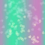 Roze en groen op abstracte achtergrond Stock Afbeeldingen
