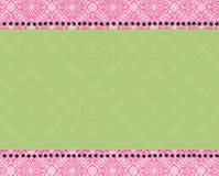 Roze en groene Paisley af:drukken Stock Foto