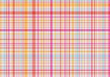Roze en oranje plaidpatroon Royalty-vrije Stock Afbeelding
