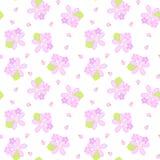Roze en purper bloemen naadloos patroon vector illustratie
