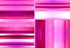 Roze en rode gestreepte radiale abstracte achtergrond Het ontwerp van de manierbanner stock foto's