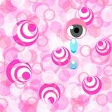 Roze en schreeuwend oog Stock Foto