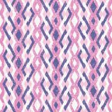 Roze en Violet Abstract Geometric Retro Pattern Stock Afbeeldingen