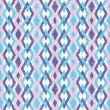 Roze en Violet Abstract Geometric Retro Pattern Stock Afbeelding
