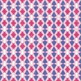 Roze en Violet Abstract Geometric Retro Pattern stock illustratie