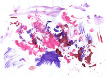 Roze en Violet Paint Stock Foto