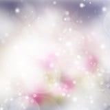 Roze en violette bokehachtergrond Stock Afbeeldingen
