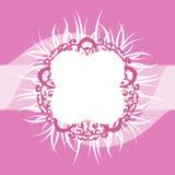 Roze en Wit Overladen Veerkader Royalty-vrije Stock Fotografie