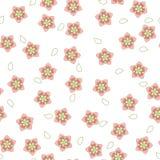 Roze en wit sakurapatroon Vector illustratie Stock Afbeelding