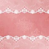 Roze en witte achtergrond met kant Stock Foto