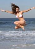 Roze en witte bikini royalty-vrije stock afbeeldingen