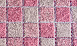 Roze en witte gecontroleerde handdoek. Royalty-vrije Stock Foto