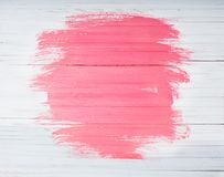 Roze en witte geschilderde houten achtergrond royalty-vrije stock foto's