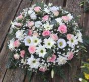 Roze en witte posie Stock Fotografie