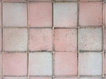 Roze en witte vierkante tegels op de muurtextuur voor achtergrond Stock Fotografie