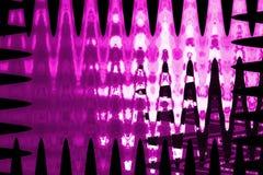 Roze en zwart abstract golfpatroon Stock Afbeeldingen