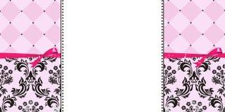 Roze en Zwarte Achtergrond - Websiteachtergrond - Banner Royalty-vrije Stock Foto
