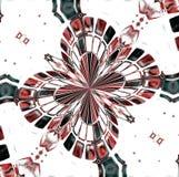 Roze en zwarte mozaïekbloem, abstract ontwerp Royalty-vrije Stock Foto's