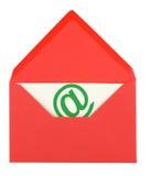 Roze envelop en kaart Royalty-vrije Stock Foto