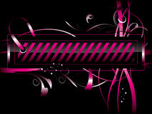 Roze etiket Royalty-vrije Stock Foto