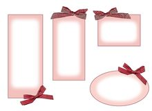 roze etiketten Royalty-vrije Stock Afbeelding