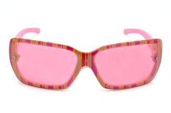 Roze eyewear manier stock fotografie