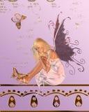 Roze Fee met de Achtergrond van de Vlinder Royalty-vrije Stock Foto's