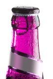 Roze fles bier Stock Foto's