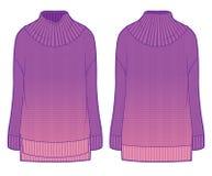 Roze flodderige gebreide sweater met gradiënt Royalty-vrije Stock Foto's