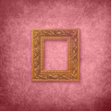 Roze Fluweel met Frame Royalty-vrije Stock Foto