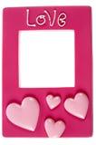 Roze fotoframe Royalty-vrije Stock Foto
