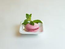 Roze frambozenmakarons Stock Fotografie
