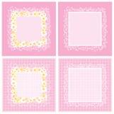 Roze frame royalty-vrije illustratie