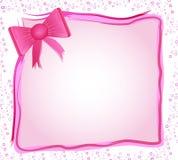 Roze frame met boog Stock Afbeeldingen