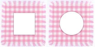 Roze frames Stock Foto's