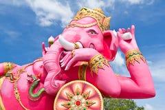 Roze ganechastandbeeld royalty-vrije stock afbeeldingen