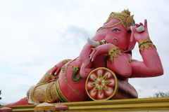 Roze ganeshastandbeeld Stock Afbeeldingen