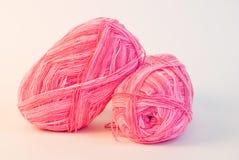 Roze garenballen stock afbeelding