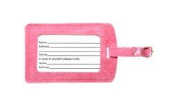 Roze geïsoleerd bagageetiket royalty-vrije stock foto's