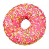 Roze geïsoleerde Doughnut royalty-vrije stock afbeeldingen