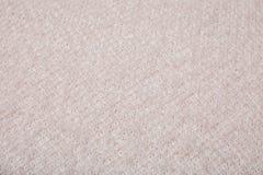 Roze gebreide textuur, hoogste mening royalty-vrije stock afbeelding