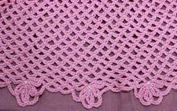 Roze gehaakte achtergrond Stock Foto's