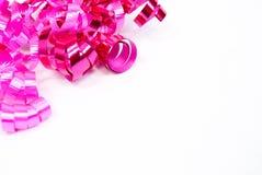 Roze Gekruld Lint Royalty-vrije Stock Afbeeldingen